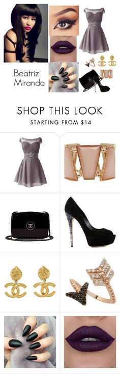 """""""The Night Is Still Young"""" by biailove1d on Polyvore featuring moda, M&Co, Chanel, Casadei, Bee Goddess e Nicki Minaj"""