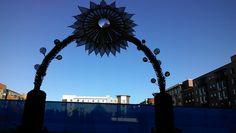 Gigantic, Sunflower Gate, From Front. #urban #solelydescriptive