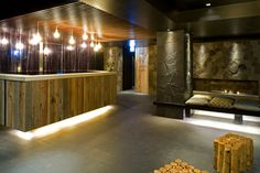 Gorgeous Lounge / reception area, Scandinavian influce, design and sustainable lighting