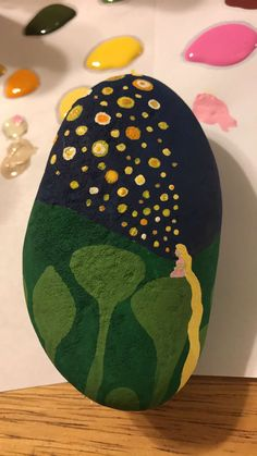 Tangled painted rock