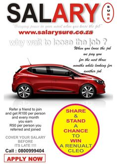 Retweet and stand a chance to win a Renault Cleo #salarysure #ChangingMinds #NewsToday