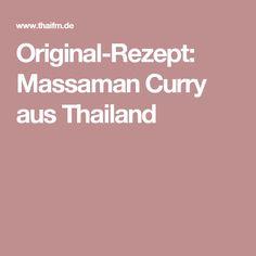 Original-Rezept: Massaman Curry aus Thailand