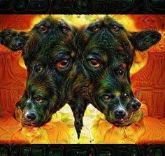 Deep Dream Conjoined Cow by KLMjr #deepdream #conjoined #cow #digitalart #digitalmanipulation #trippy #psychedelic by kendrofious_morificus