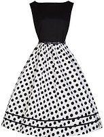 Lindy Bop 'Audrey' Vintage 50's Monochrome Polka Dot Swing Dress