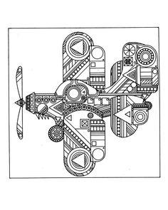Free coloring page «coloring-plane-zen».