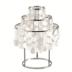 Fine Mod Imports Pearl Table Lamp in Mother of Pearl