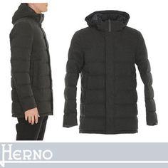 HERNO ダウンジャケット HERNO すっきりとしたパターンワークが魅力 フード付ダウン