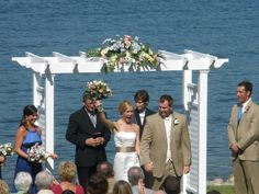 Lakefront Ceremony at Bay Pointe Inn, Michigan