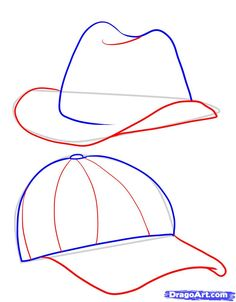 how to draw hats step 3