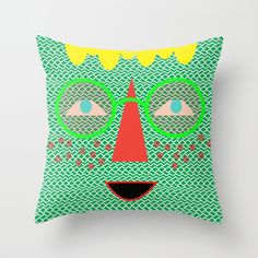 """candy canes"" by Jen Lin Aliaga Art Throw Pillow 