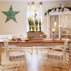 Beach Cottage Dining Room - Beach cottage style is very much in evidence in this charming room. Beach Cottage Style, Beach Cottage Decor, Coastal Decor, Cottage Dining Rooms, Porch Furniture, Plywood Furniture, Modern Furniture, Furniture Design, Wicker Dining Chairs
