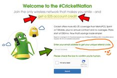 Cricket rewards referral code get 25 cricket credit using code free 25 cricket wireless referral code freebie coupon discount cellphone fandeluxe Choice Image