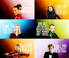 Doctor Who character quotes. These are beautiful! Bbc Doctor Who, Eleventh Doctor, Doctor Who Quotes, Character Quotes, Don't Blink, Torchwood, Geronimo, Bad Wolf, David Tennant