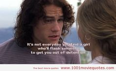 10 Things I Hate About You - The Best Movie Quotes. We speak Movie Quotes Movie Quotes Tumblr, Tv Quotes, Funny Quotes, Famous Movie Quotes Funny, It's Funny, Lyric Quotes, Funny Stuff, Bollywood, Love Movie