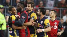 Columbus holds on, eliminates NYCFC; Toronto wins feisty match vs. Red Bulls