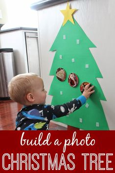 55 toddler Christmas crafts perfect for the holidays! Christmas tree crafts, reindeer crafts, stocking crafts, candy cane crafts, and Santa crafts! Photo Christmas Tree, Christmas Tree Crafts, Noel Christmas, Christmas Projects, Winter Christmas, Christmas Themes, Holiday Crafts, Holiday Fun, Christmas Decorations