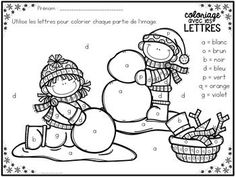 GRATUIT! Free FRENCH Winter colour by letter worksheets Read In French, Free French, French Worksheets, Letter Worksheets, Kindergarten Writing, Kindergarten Activities, Physical Education Lessons, French Teaching Resources, French Language Lessons