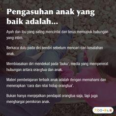 Satu sehari, tips permainan & pengasuhan anak, hanya di Chai's Play Gentle Parenting, Parenting Quotes, Kids And Parenting, Parenting Hacks, Quotes For Kids, Family Quotes, Inner Child Healing, Reminder Quotes, Baby Health