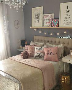 Room Design Bedroom, Girl Bedroom Designs, Bedroom Layouts, Room Ideas Bedroom, Home Room Design, Home Decor Bedroom, Bedroom Decor For Teen Girls, Teen Room Decor, Pinterest Room Decor