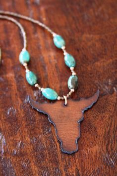 One Of A Kind Bull Necklace Cowgirl Necklace by DlightedJewelry, $35.00