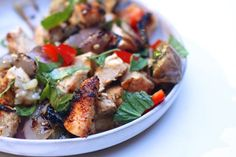 5 Easy, Healthy Dinners To Try This Week #refinery29  http://www.refinery29.com/52678#slide-1  Craving a home-cooked meal with plenty of exotic flavor? Whether you opt to grill or use the stovetop, this Thai Chicken, Eggplant, and Basil recipe from The Bitten Word is easy to execute and doesn't require too many hard-to-find ingredients. Bonus points: Grilling the ingredients makes for minimal cleanup, and the intense, sinus-clearing aromas will help if you're suffering from end-of-summer…