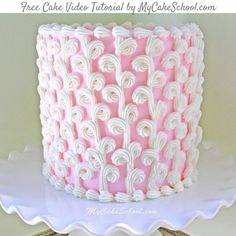 Learn to create elegant loops of buttercream piping in this free cake video tutorial by MyCakeSchool.com! Great for birthdays, weddings, & more!