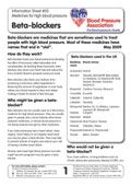 Print-ready Beta-blockers information sheet