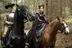 Still of Tara Fitzgerald and Hugo Speer in The Musketeers (2014)