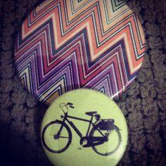 Kit bottons | Bike zig zag - Manumonumei (tanlup) - $6