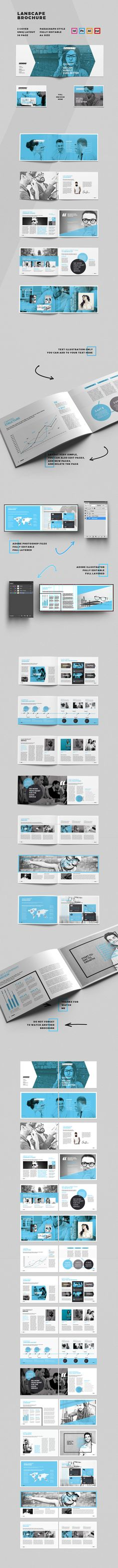 """Popatrz na ten projekt w @Behance: """"Lanscape Brochure Template"""" https://www.behance.net/gallery/42123973/Lanscape-Brochure-Template"""