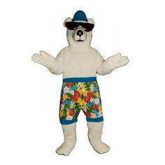 231KK-Z Beach Bear - Team-Mascots.  See more bear mascot costumes at:  http://www.team-mascots.com/bear-mascot-costumes/bear231kk