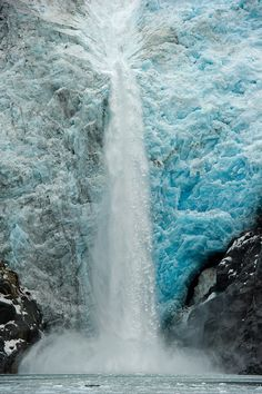 """Ice Falls"": Northwest Glacier, Kenai Fjords National Park. Photo by Chuck Babbitt."