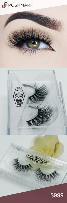 Mink 3D Eyelashes •100% Real Mink Fur Strip Lashes •Handcrafted High Quality Lashes •Reusable •1 pairs mink eyelashes lashes  AVAILABLE IN 4 STYLES PLEASE LIKE THIS POST TO BE NOTIFIED UPON ARRIVAL PRE SALE PRICE $10 MK Boutique  Makeup