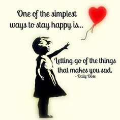 Happiness is letting go of the pain