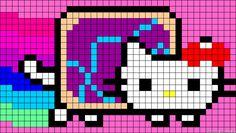Hello Kitty Nyan Cat perler bead pattern