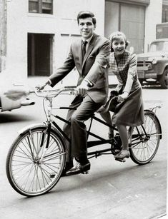 Who knew they ever knew each other?? Here's Patty Duke on a tandem with Frank Sinatra Jr.  - this was during shooting for a Jan 1965 airing of an episode of The Patty Duke Show -- Universal Studios Hollywood.