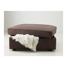 IKEA - KIVIK, Footstool with storage, Isunda brown, , Large practical storage space under the seat.Works as an extra seat or a comfortable extension of your sofa.The cover is easy to keep clean as it is removable.10-year limited warrranty. Read about the terms in the limited warranty brochure.