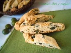 cantucci olive e capperi Appetizers For Kids, Easy Appetizer Recipes, Healthy Appetizers, Party Appetizers, My Favorite Food, Favorite Recipes, Savoury Biscuits, Veg Dishes, Creative Food