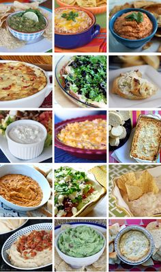 Dips, dips & more dips! From gooey and cheesy to fresh and healthy, 15 great dips for parties Yummy Appetizers, Appetizer Recipes, Snack Recipes, Cooking Recipes, Snacks, Dip Recipes, Cooking Tips, I Love Food, Good Food