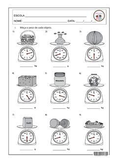 Measuring Kitchen Scale Measuring Weight Worksheets Easy