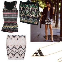 Aztec patterns. Aztec Patterns, Collections, Polyvore, Shopping, Image, Products, Fashion, Moda, Fashion Styles