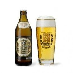 Cerveja Augustiner Bräu Edelstoff, estilo Dortmunder Export, produzida por Augustiner, Alemanha. 5.6% ABV de álcool.
