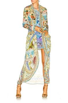 Camilla - Sign Of Peace / Long Casual Jacket W Pockets