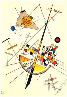 Kandinsky - Delicate Tension (Zarte Spannung), 1923