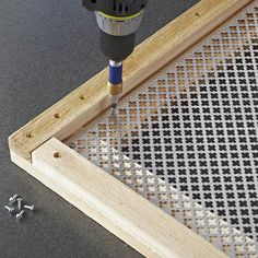 secure the metal screen with screws. do to all screen windows, not just screen doors. secure the metal screen with screws. do to all screen windows, not just screen doors. Metal Screen Doors, Diy Screen Door, Security Screen Doors, Screen Door Pantry, Painted Screen Doors, Vintage Screen Doors, Room Divider Screen, Porta Diy, Privacy Screen Deck