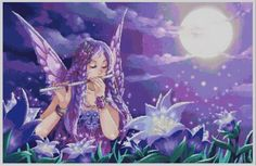Night Fairy Cross Stitch Pattern