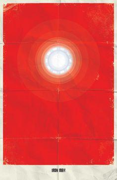 minimalist posters - iron man