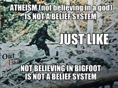 Atheism, Bigfoot And Belief Systems |