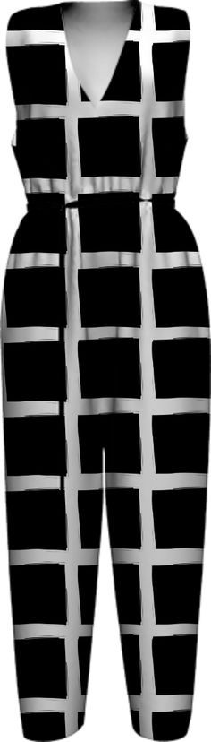 black-and-white-reverse-grid-1 WOMEN JUMPSUIT PAOM-VFS by pencilmein