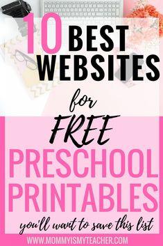 10 Best Websites for Free Preschool Printables — Mommy is My Teacher
